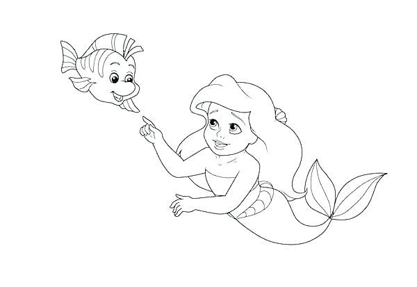 Eric Holding Princess Ariel Coloring Page   Desenhos pra colorir ...   413x600