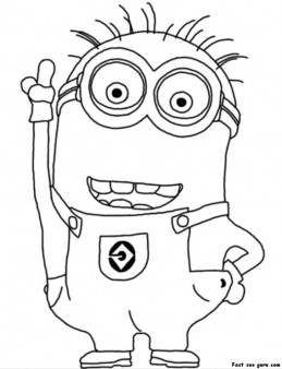 259x338 Printable Disney Two Eyed Minion Despicable Me Coloring Pages