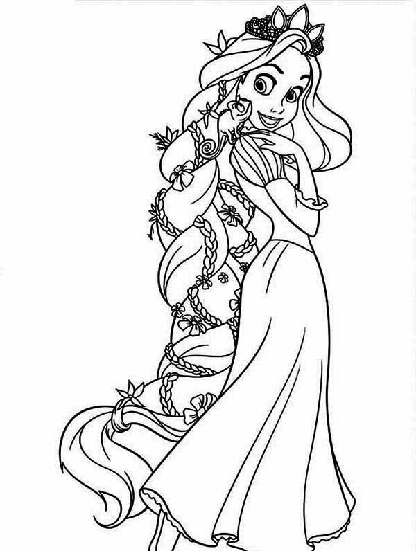 Disney Rapunzel Coloring Pages At Getdrawings Com Free For