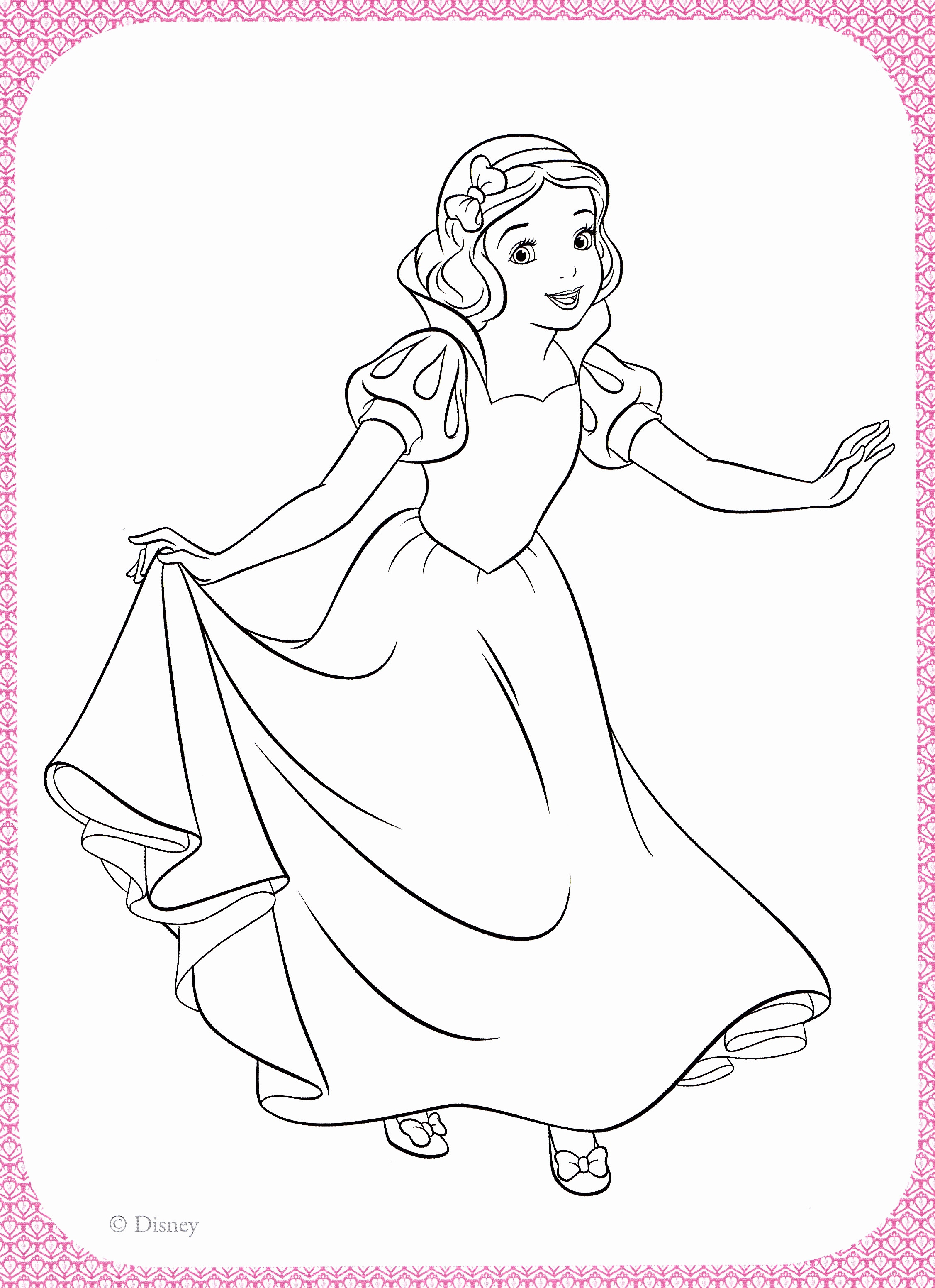2254x3103 Snow White Coloring Page Awesome Top Pages Free Throughout