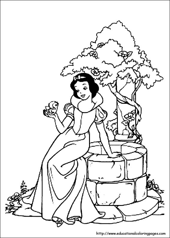 567x794 Snow White Coloring Pages Free For Kids