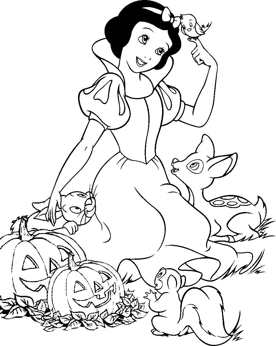 969x1214 Snow White Free Printable Halloween Coloring Pages Disney