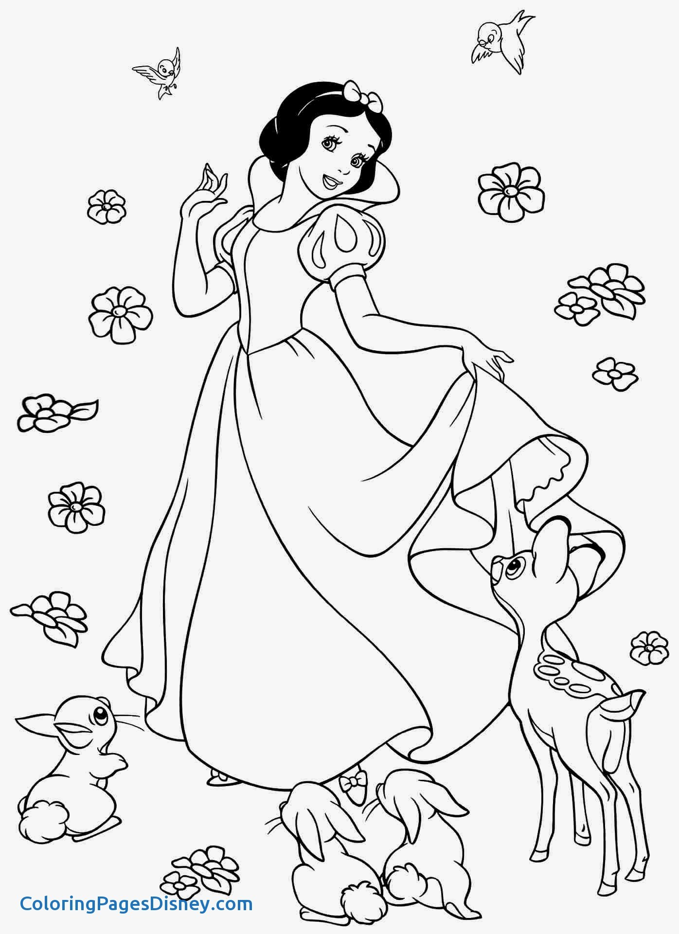 1396x1920 Snow White And The Seven Dwarfs Coloring Pages Best Of Disney Snow