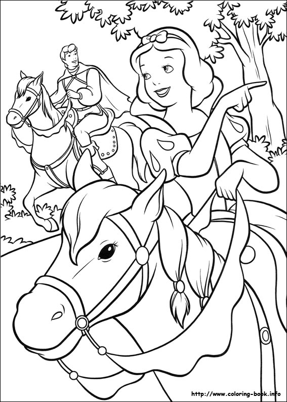 567x794 Snow White Coloring Picture