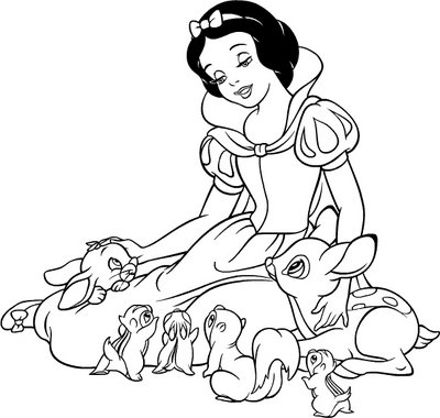 400x380 Disney Snow White Coloring Page