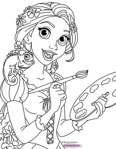 Disney Tangled Coloring Pages