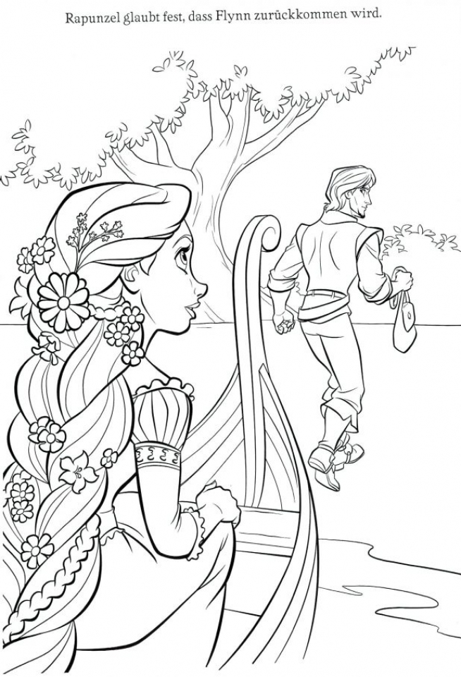 654x960 Disney Rapunzel Coloring Pages Free Sweet Disney Rapunzel Coloring