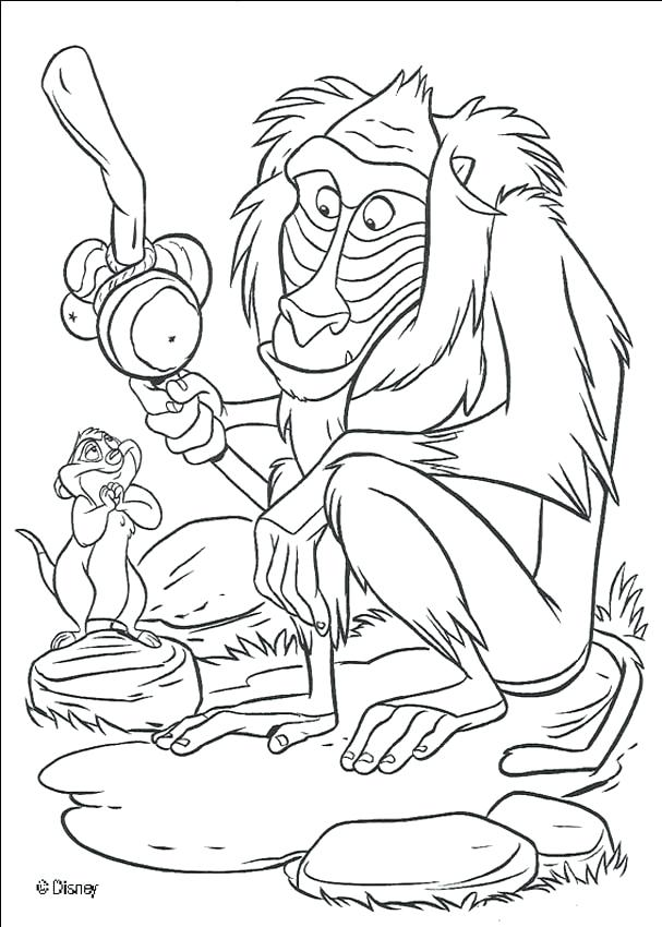 607x850 Free Disney Coloring Pages Printable Needs Help The Monkey