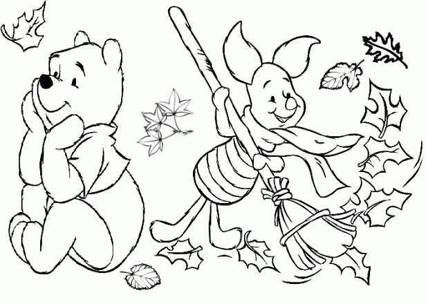 616x440 Thanksgiving Coloring Pages For Kindergarten Free Printable Disney