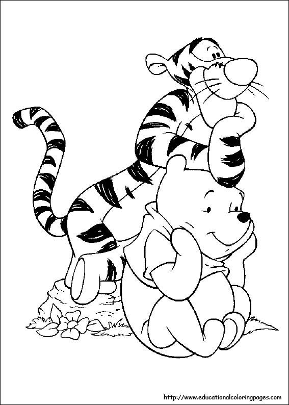 Disney Tigger Coloring Pages