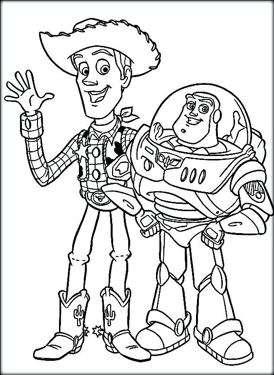 562x769 Toy Story Color Pages Disney Toy Story Coloring Pages Buzz Toy