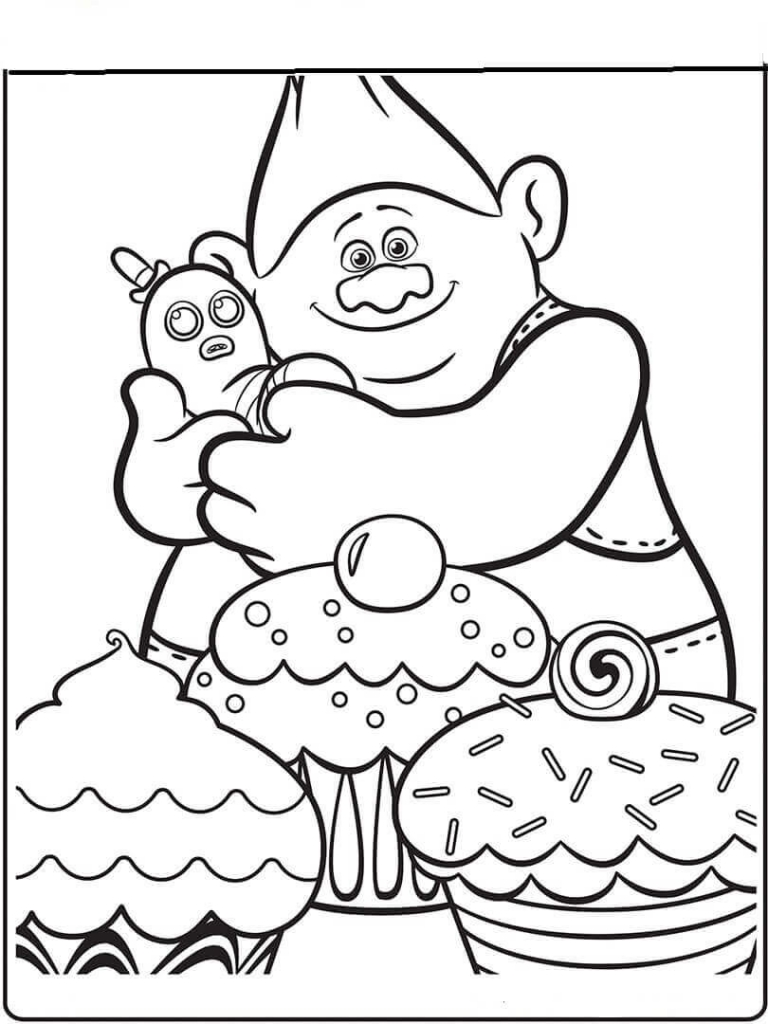 Disney Trolls Coloring Pages