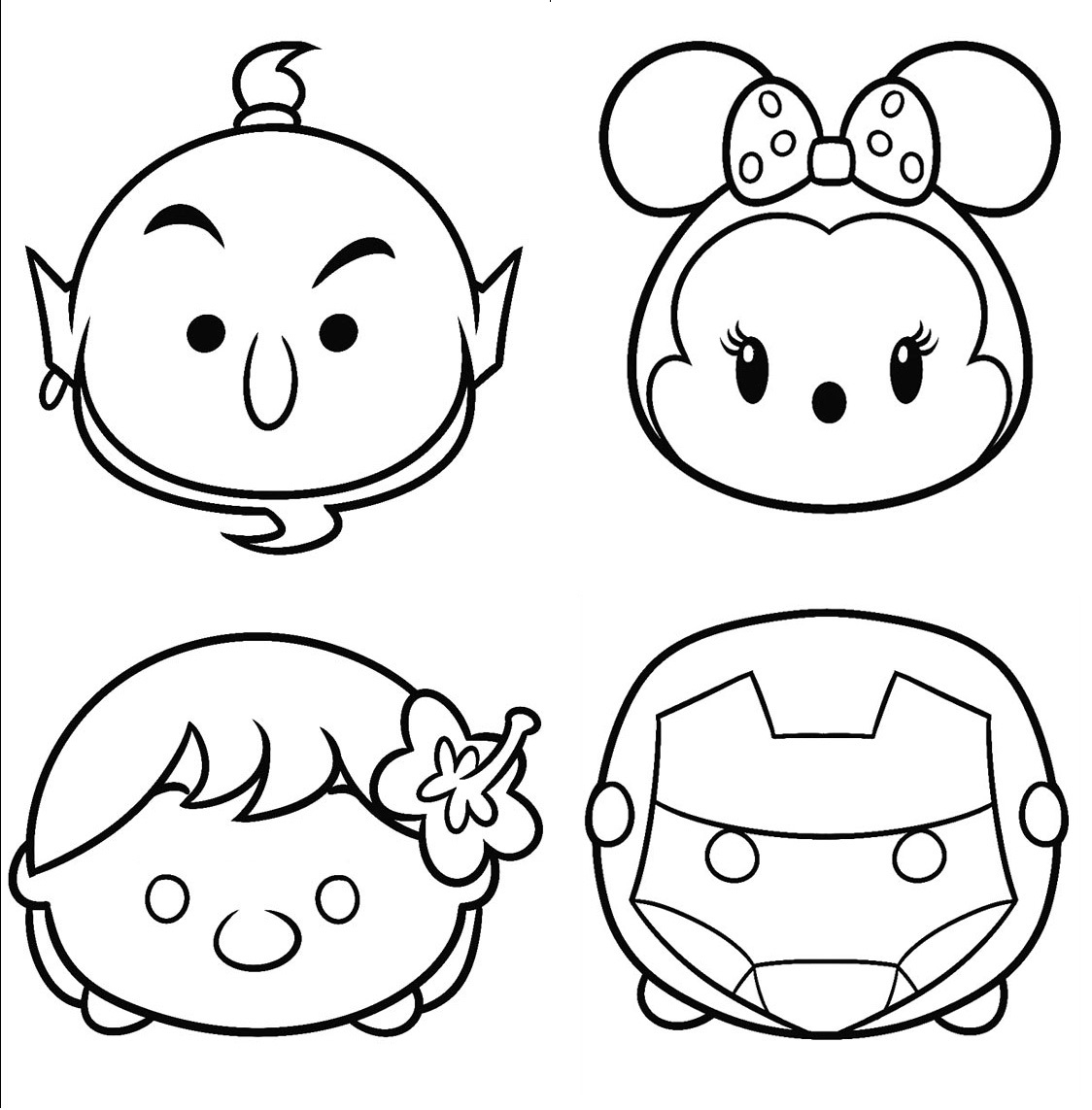 1124x1143 New Tsum Tsum Coloring Pages To Print And Color Design Free