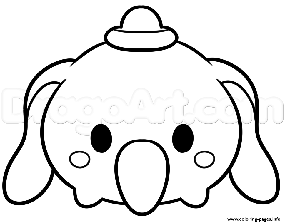 969x759 Tsum Tsum Dumbo Disney Coloring Pages Printable