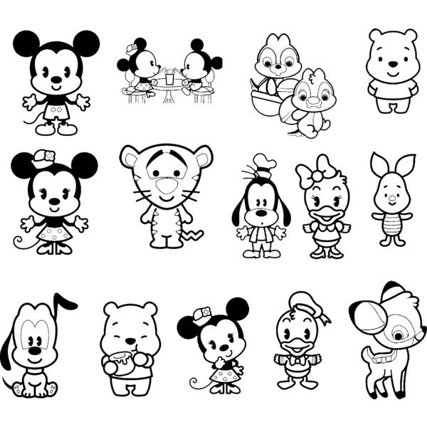 600x600 Disney Cuties Colouring Page Projects To Try