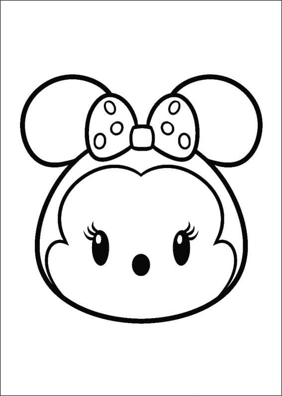 567x794 Disney Tsum Tsum Coloring Pages Black And White