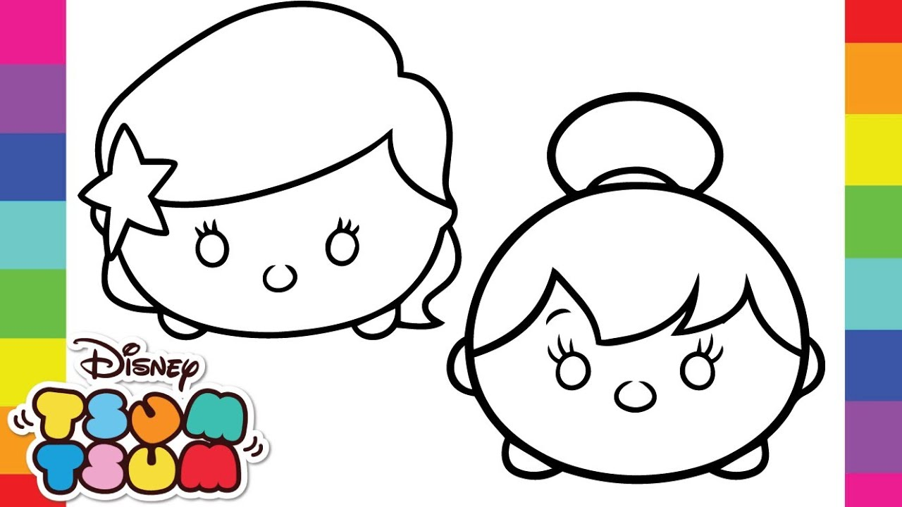1280x720 Free Tsum Coloring Pages Tsum Family Comp Di