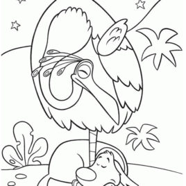 268x268 Kevin The Bird And Dug The Dog In Disney Up Coloring Page Netart