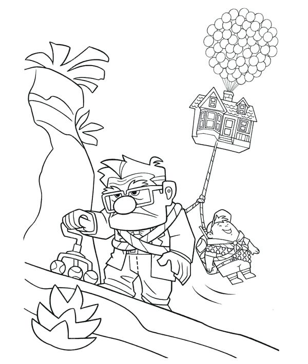 600x710 Landscapes Up On Hills Coloring Pages Printable Image Of Disney Up