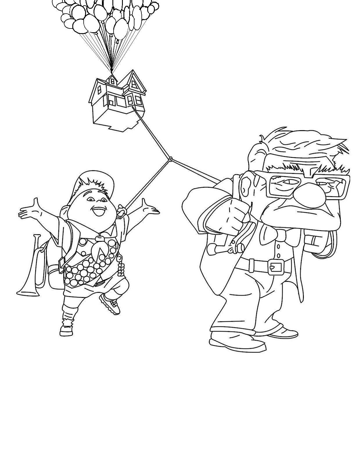 1236x1600 Up House Coloring Page