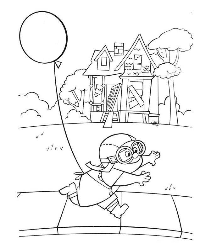 671x794 Up House Coloring Pages Disney Up Coloring Pages Getcoloringpages