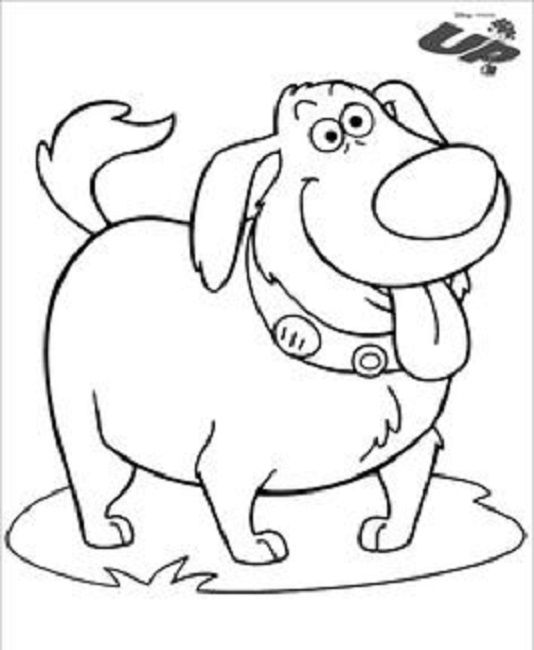 534x650 Up Coloring Pages Dug Cartoon Coloring Pages
