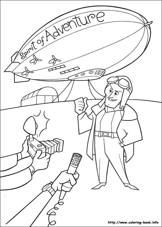 567x794 Disney Up Coloring Pages
