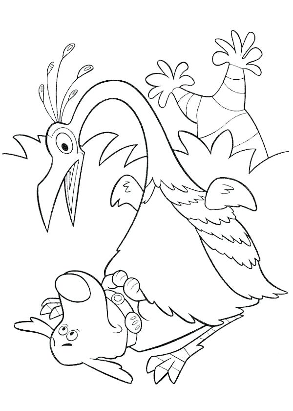 600x840 Disney Up Coloring Pages Surprised To See Dug In Up Coloring Page