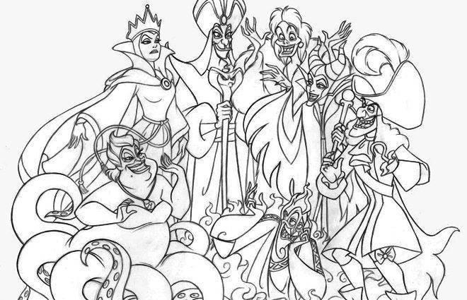 Detailed Disney Villains Coloring Pages