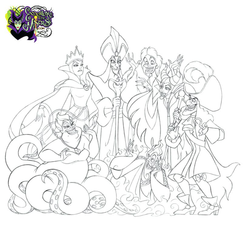 Disney Villains Coloring Pages At Getdrawings Com Free For