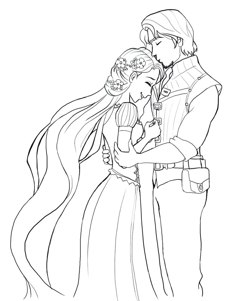 736x968 Rapunzel Coloring Pages With Wedding Coloring Pages Rapunzel