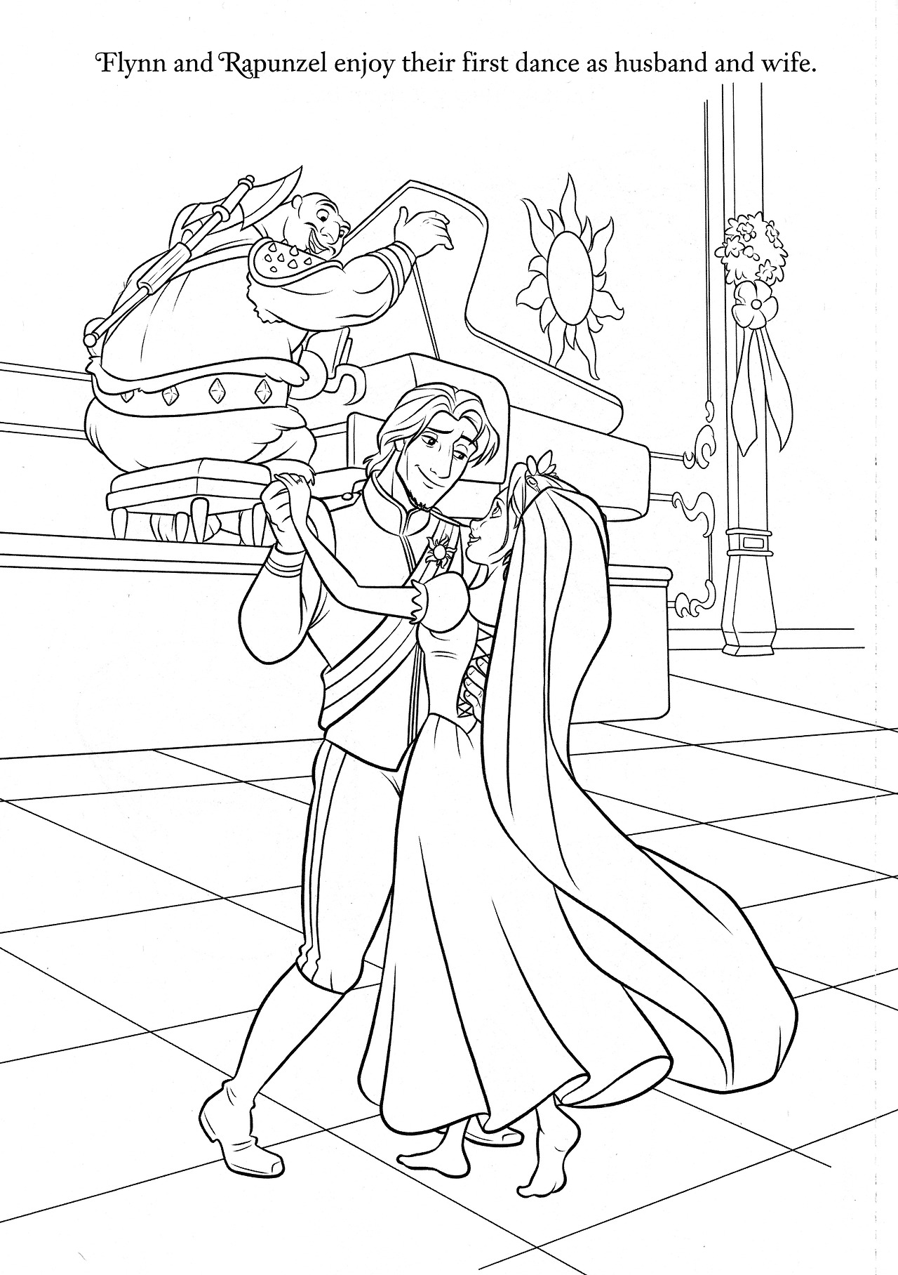 1280x1816 Rapunzel Wedding Coloring Papges Princess Rapunzel And Flynn