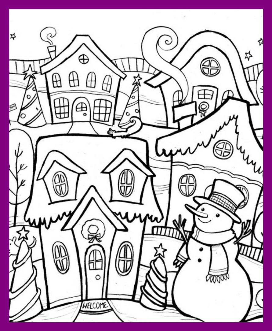 Disney Winter Coloring Pages At Getdrawings Com Free For Personal