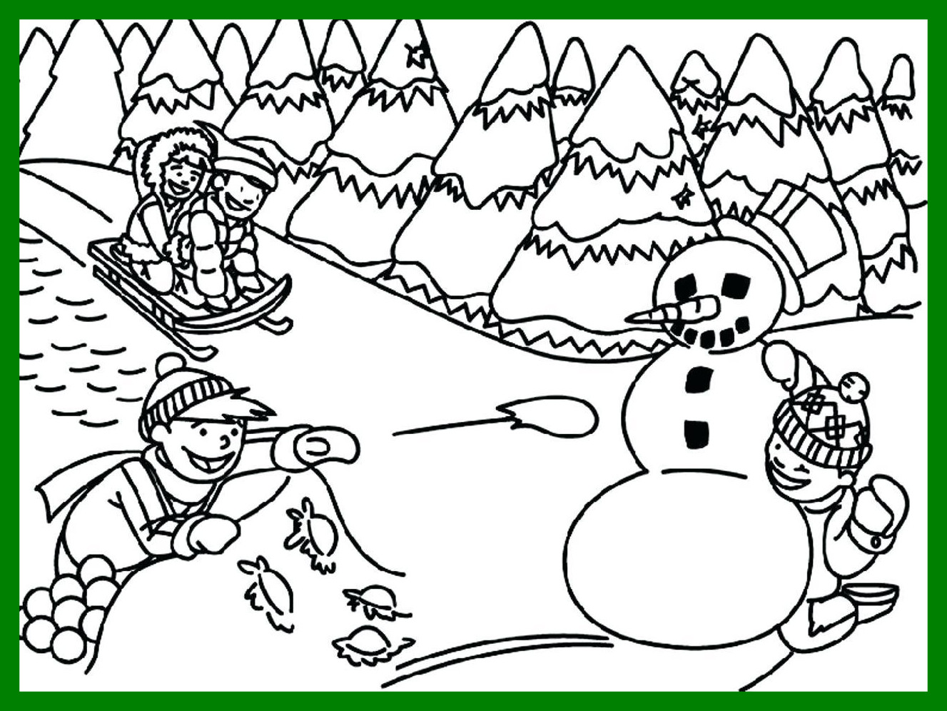 1327x996 Appealing Winter Coloring Pages For Disney Trends And Popular