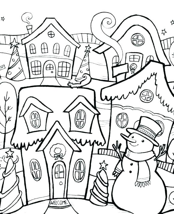 580x713 Free Winter Coloring Pages Printable