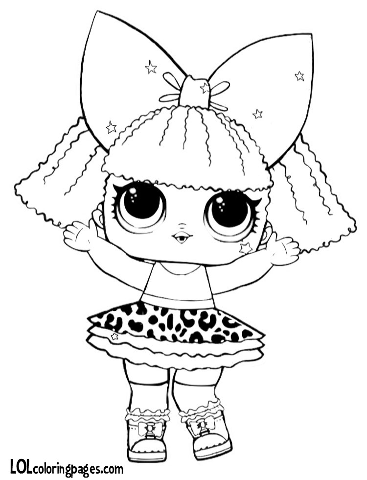 750x980 Glitter Diva Coloring Page Lol Surprise Doll Coloring Pages