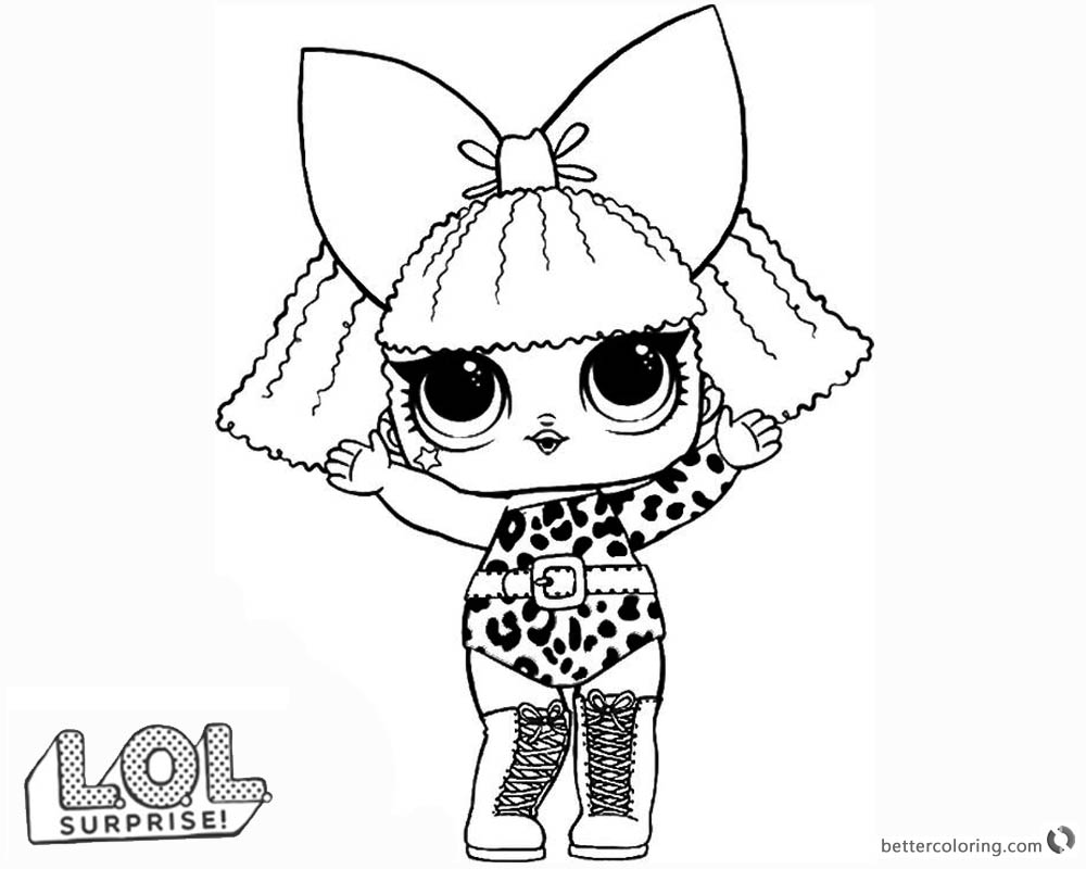 1000x800 Lol Surprise Doll Coloring Pages Diva