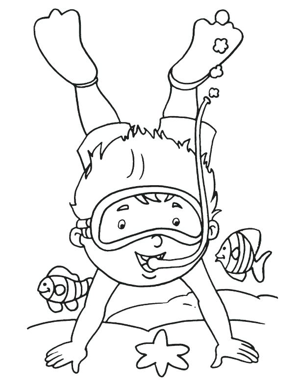 612x792 Scuba Diver Coloring Page Coloring Pages Of Coral Reefs Coral Reef