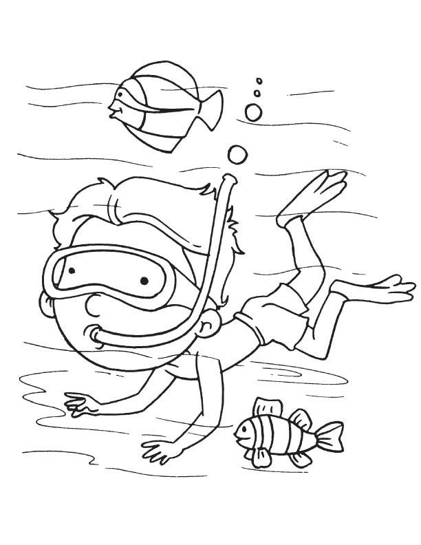 612x792 Sea Diver Coloring Page Download Free Sea Diver Coloring Page