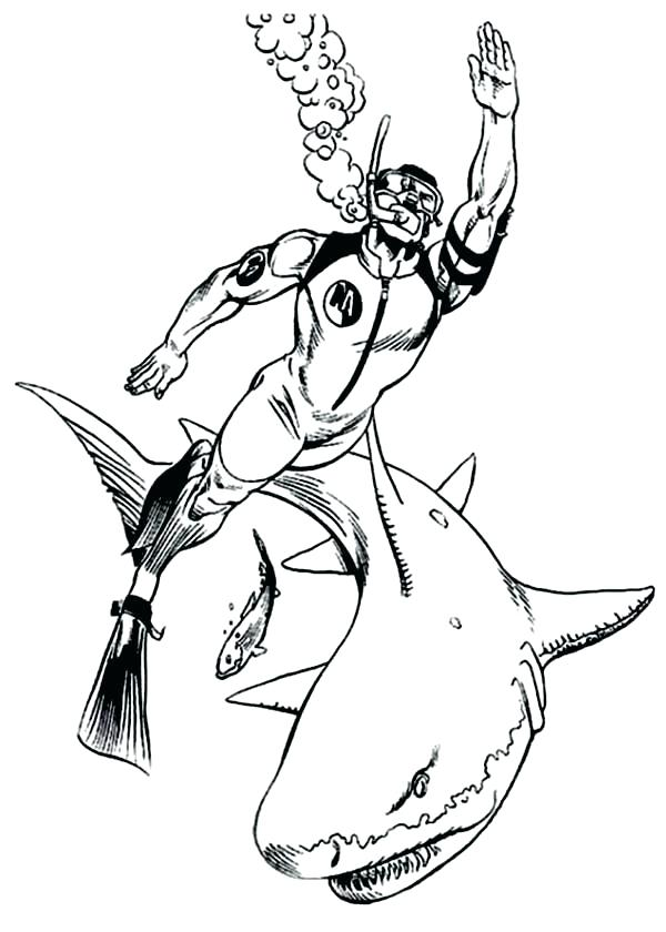 600x840 Coloring Pages Sharks Coloring Pages Shark Bull Shark Coloring
