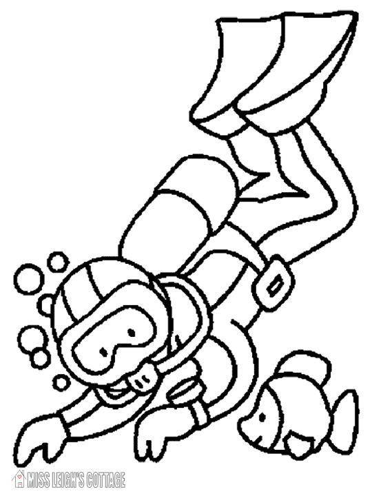 540x720 Scuba Diver Coloring Page Scuba Diver Coloring Page Unique