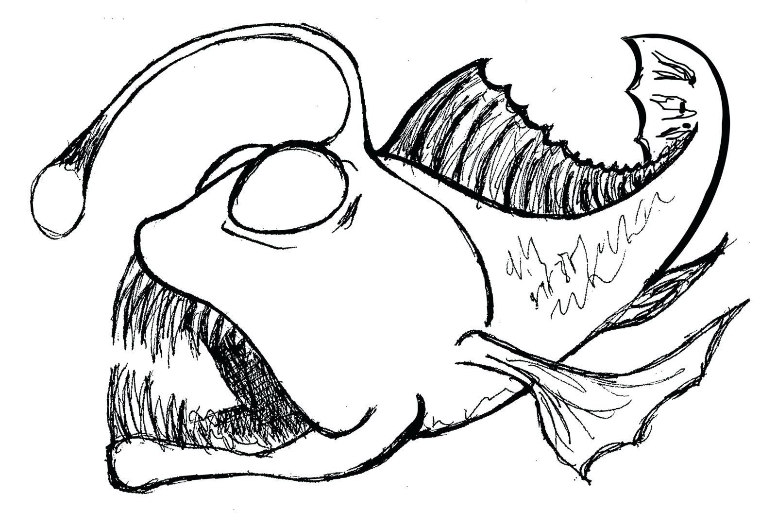 1600x1085 Odd Deep Sea Diver Coloring Page Koi Fish Pattern Pages A Animal