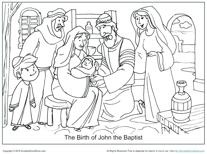 878x655 Captivating Division Coloring Pages John The Baptist Coloring