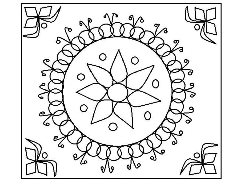 1024x768 Diwali Coloring Pages Bloodbrothers Me And For Kids