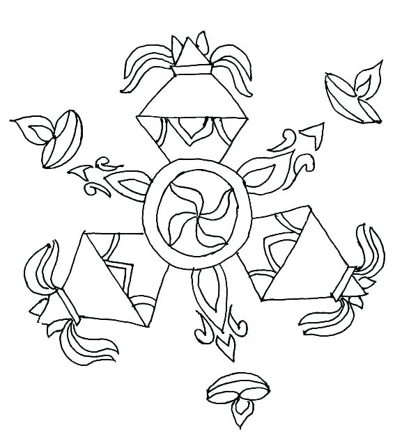 600x634 Diwali Coloring Pages Deep Coloring Page Diwali Cards Colouring
