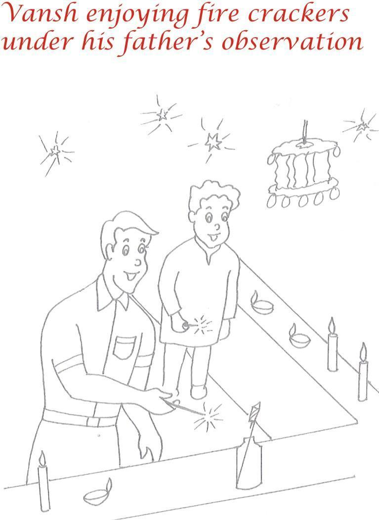 767x1050 Diwali Coloring Pages For Kids