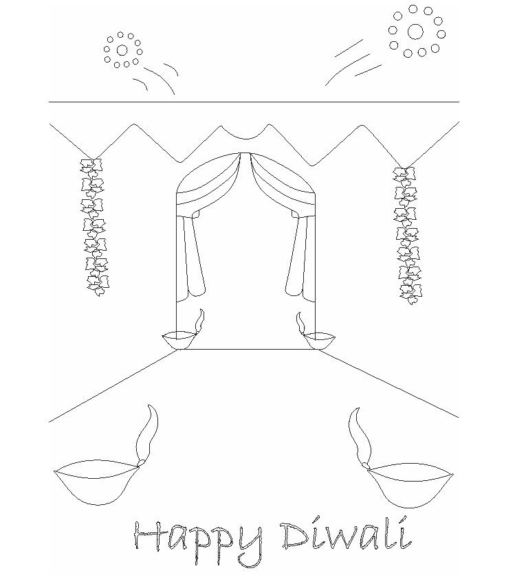 749x837 Diwali Printable Coloring Pages For Kids