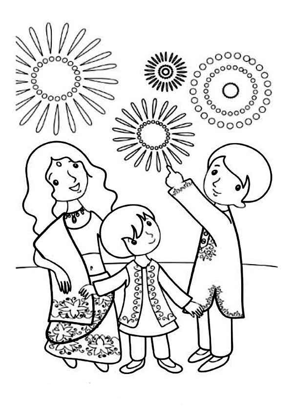 600x848 Happy Diwali Coloring Pages