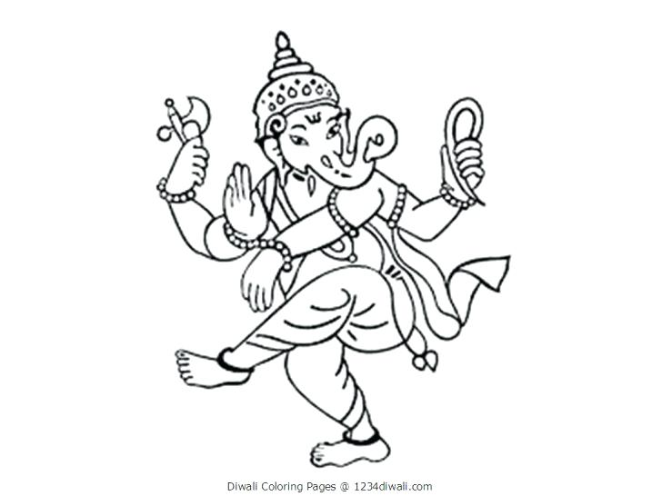 728x546 Coloring Pages Kids Diwali Lamp Colouring Murs