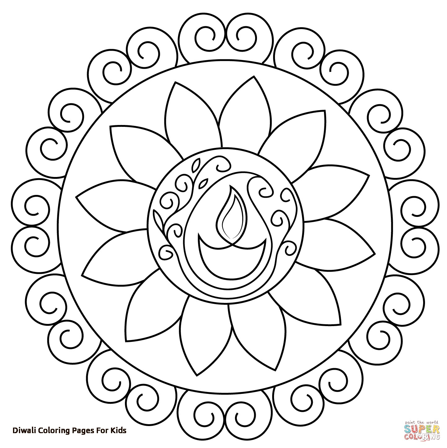 1442x1448 Independence Day Coloring Page For Kids Pages Printables At Diwali